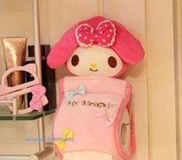 Wholesale 1X Kawaii Melody Rabbit Plush Stuffed TOY Pendant Home Bathroom Tissue Case Box Container DOLL