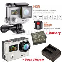 Wholesale Original EKEN H3R K Action Camera Extra Battery Dock Charger Waterproof Sports DV wifi P fps Degree Lens Gopro Hero Style