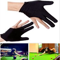 Wholesale 10x Nylon Finger Gloves Shooter Pool Billiards Cue Glove Black Indoor Game Kit Hot Sell