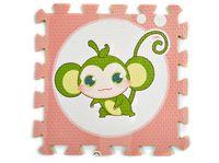 animals floor puzzle - EVA Ecofriendly Cartoon Animals Puzzles Mats Thick Waterproof Pink Floor Crawling Pads Monkey Printing Safety Play Mats Exercise Mats