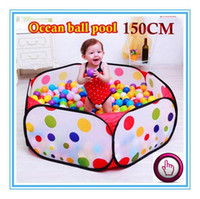 Cheap Wholesale-150CM KID PORTABLE FOLDING OUTDOOR & INDOOR PLAY GAME HOUSE CHILDREN POP UP TENT BALL PIT TOYS BALLS FOR POOL CHILDREN'S PLAYPEN