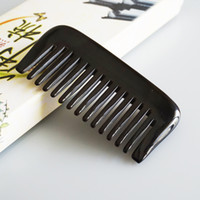 Wholesale Men Pocket Horn Beard Mustache Comb High Quality Handmade Buffalo Horn Fine Tooth Hair Comb Gift Handicraft Souvnirs