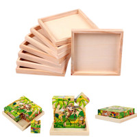 Wholesale cm X cm Kids Six Sided Painting Building Block Wood Pallet Wood Plate for Toy