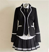 Wholesale Cheap Anime Girls School Student Uniform Sailor Dress British Style Cosplay clothing