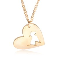 animal memorial gifts - PitBull Necklace Pendant Pit Bull Heart Pendant Dog Memorial Pet Necklaces Pendants Women Animal in heart cut off Charms Christmas Gift