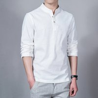 asian male fashion - Fashion Long sleeve Men s shirts male casual Linen shirt men DX366 Asian size camisas