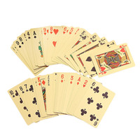 Wholesale 2016 New out door games play K Gold Foil Plated Poker Card Playing Card Game High grade Sports Leisure Game Poker Card Gift