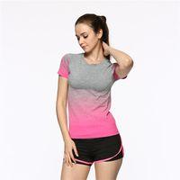 Wholesale New sexy tight tee women Yoga comfort super elastic quick dry sweat running training yoga clothing