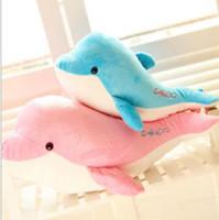 big plush dolphin - 25cm Plush Toy Big Dolphin Dolls Carton Dolphin Toys Gift Christmas Gifts For Children Carton Toys Pink Blue epacket