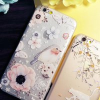 anaglyph images - TPU Back Cover Romatic phone case for iPhone s with beautiful anaglyph images of flower bird with Dirt resistant