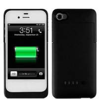 Cheap 1900mAh External Battery Charging Case Power Bank for iphone 4 4Charger BackupS Charger Backup Rechargeable Charging Battery Charge Cover