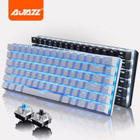 base keyboards - New Arrival Ajazz AK33 Key Alloy Base Blue Backlit USB Wired Mechanical Gaming Keyboard Blue Black Axis