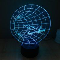 airplane lamps - Color changing F15 F16 airplane model D Plastic LED Night Light USB led table Lamp for bedsides decoration