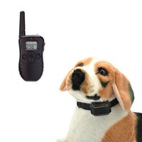 accessories level control - Rechargeable Meter Remote Control Electric LV Level Shock Vibra Anti bark Pet Dog Training Collar with LCD Display