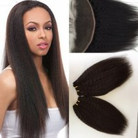 Wholesale Fashion Wave Kinky Straight Lace Frontal Closure Bundles Mix Length inch Brazilian Unprocessed Raw Hair