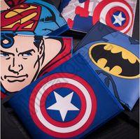 batman business card - 100pcs CCA4048 The Avengers Wallet Cartoon Purse Superhero Wallet Marvel Wallet Card Holder Cartoon Student Wallet Superman Batman Wallet