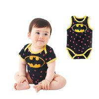 Wholesale Ins hot selling New newborn and babies romper cotton superman batman romper two colours