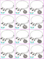 Wholesale The zodiac Alex and Ani Charms Bracelet Expandable Wire Bangles Lucky clover bracelet Metal Vintage Wristband For Women