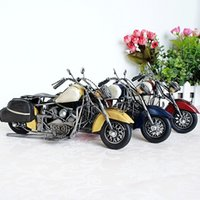 Wholesale Retro Motorcycle Model Metal Material Simple Mini Model Toys Handicrafts Gifts for boys