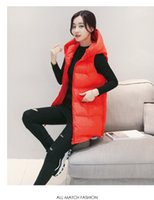 Wholesale 2016 New Pattern Down Cotton faux satin women Women s Leisure Time Waistcoat shrugs Beesty fall vests