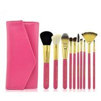 ace hair brushes - 2016 New brand ace make up brushes set animal hair and wool make up brush color optional black pink blue BRUSH fashion