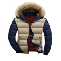 Wholesale Fall Winter Men Jackets Fashion Casual Fur Hooded Down Jackets White Duck Down Coats Man Long Sleeve Outdoors Clothing Wear