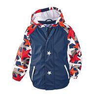 Wholesale 50pcs Children PU Raincoat New Kids Boy Jacket Star Print Poncho Rain Coat Waterproof Rainwear For Hiking Camping Tour ZA0501