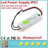 Wholesale 10W W W W W W W W W W Led Power Supply AC V V Waterproof IP67 Led Transformer DC V