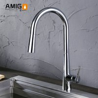 Wholesale Full brass kitchen mixer faucet body two functions of shower head high grade pulling nylon tube dr
