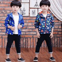 Wholesale 2017 Boys Long Sleeve Cardigan Coat Jacket Girls Hoody New for Winter Autumn Spring Coat Outwear Sporting Top Clothes Animal Coat