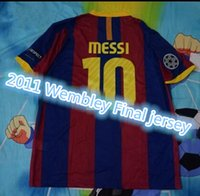 Wholesale Wembley Stadium final Messi10 David Villa retro Jerseys can not customize name and number