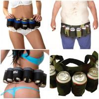 beer bottle belt - Mountain Climbing Outdoor Beer Belt Waist Support Carry Sling Drinks Outdoor Party Cutlery Set Can Hold Bottles Of Beer Adjustable E658L