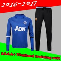 Wholesale 2016 survetement football Portugales Manchester training suit tracksuit maillot de foot camisetas chandal futbol pants jogging jerseys
