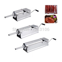 Wholesale SF5 H Horizontal Type Manual Sausage Stuffer stainless steel sausage stuffer meat filler sausage making machine Sausage filler
