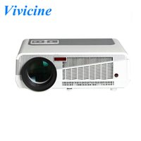 white/black beamer projektor - 3000Lumen P Android WiFi Smart led W lamp D Home Theater Projector projektor Full HD Portable Video TV Beamer
