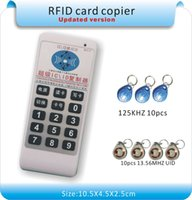 Wholesale English ver Handheld Khz MHZ more frequency access RFID card Duplicator Copier KHZ tags MHZ tags