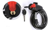 Wholesale MTB bicycle Steel Wire lock g black bike Security cable lock with two keys