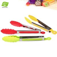 Wholesale 1PC quot Plastic Kitchen Tongs BBQ Clip Food Salad Tongs Bread Cake Helper Tools Kitchen Utensils