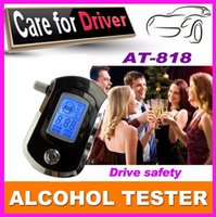 alcohol types - Hot selling Professional AT6000 Mini Police Digital LCD Breath Alcohol Tester Breathalyzer breathing type alcohol tester portable