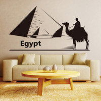 bedrooms in egypt - One Person On the Camel to the Pyramid in Egypt Wall Stickers for Living Room Bedroom Decor DIY Home Decoration Wallpaper Poster