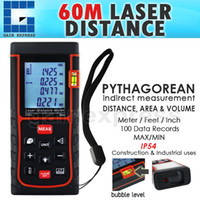 Wholesale X01RZ60 Handheld Digital Meter Laser Distance Area Volume m ft Range Finder Accuracy mm bubble spirit level tool