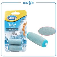 Wholesale New arrival foot file roller SCHOLL VELVELT SMOOTH Replacement Express Pedi Hard Skin Replacement Roller Heads PK GEL ACTIV NO NO
