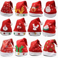 Wholesale Christmas Hats for Children Kids Cute Santa Claus Hats Christmas Cosplay Decoratio Caps Xmas Hats christmas gifts
