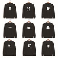 aries animal print - Zodiac Sign Virgo Aries Taurus Leo Pisces Libra Sagittarius Etc Letter Printing Men Sweatshirt Black Male Printed Clothing