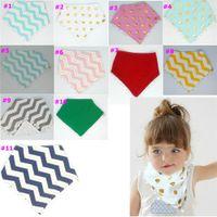 Wholesale 20 Cotton Styles Ball Tassels Baby Bibs Burp Cloths Bandana Bibs Dribble Bibs BandanasTowel Toddler Triangle Scarf