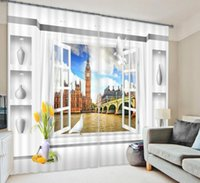 Wholesale Window Curtain D Curtains for living room bedroom Blackout drapes British London rideaux pour le salon Tailored made Modern