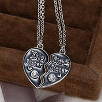 american puzzle - 2017 Hot Sisters Pendant Necklace Broken Heart Puzzle Jewelry Unique Personalized Gifts Charms Couple Necklaces for Sister
