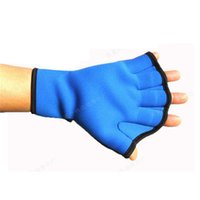 Wholesale Water Sports Surfing Webbed Swimming Gloves AID Paddle Training Fingerless Gloves