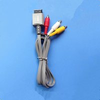 Wholesale Factory Price Game Wire cm NES WII Three rows of AV wire Grey AV cable game wire