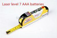 battery tape measure - Specialized AAA batteries Laser Spirit Level Aligner Horizon Vertical Cross Line Tape Measure Ruler
